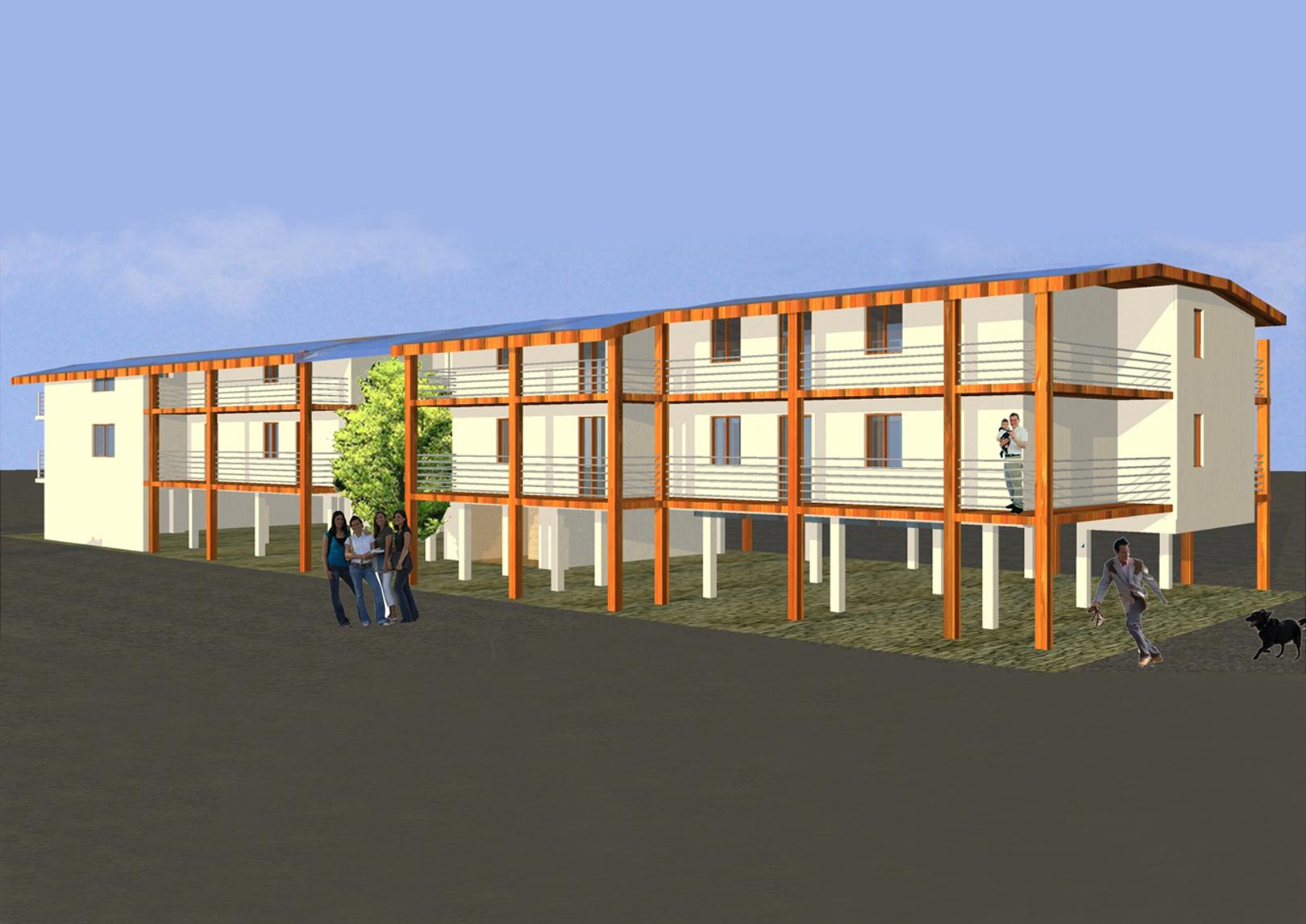 Complesso di 14 alloggi in Bioarchitettura